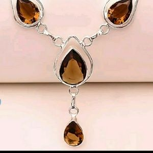New SmokeyTopaz Sterling silver Necklace